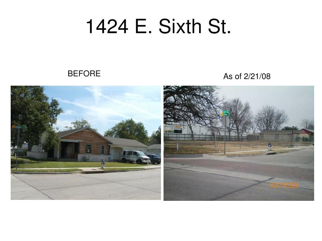 1424 E. Sixth St.