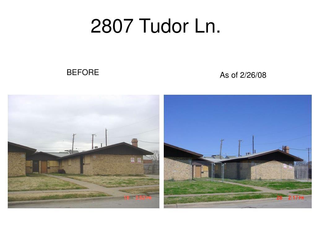 2807 Tudor Ln.