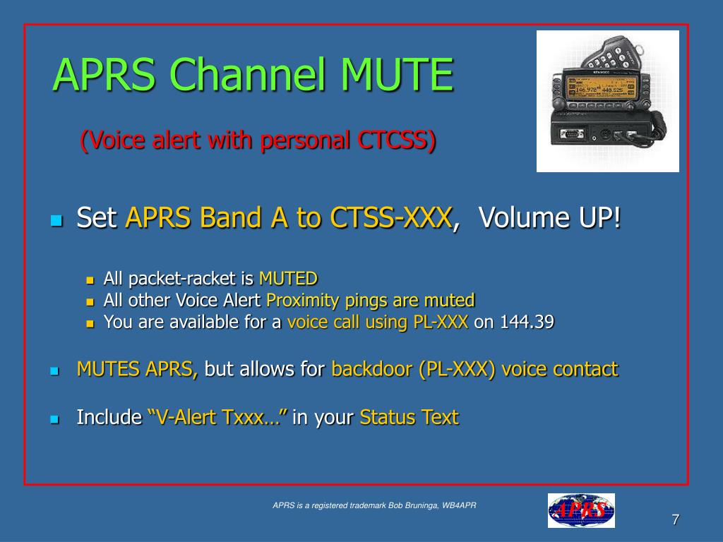 APRS Channel MUTE
