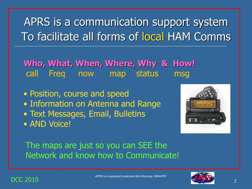 APRS is a communication support system