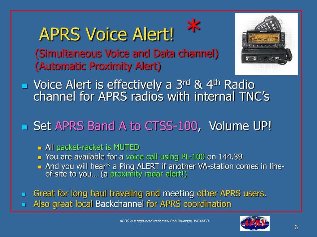 APRS Voice Alert!