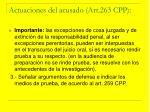 actuaciones del acusado art 263 cpp17