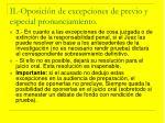 ii oposici n de excepciones de previo y especial pronunciamiento29