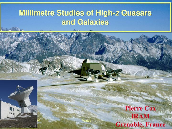 Millimetre studies of high z quasars and galaxies