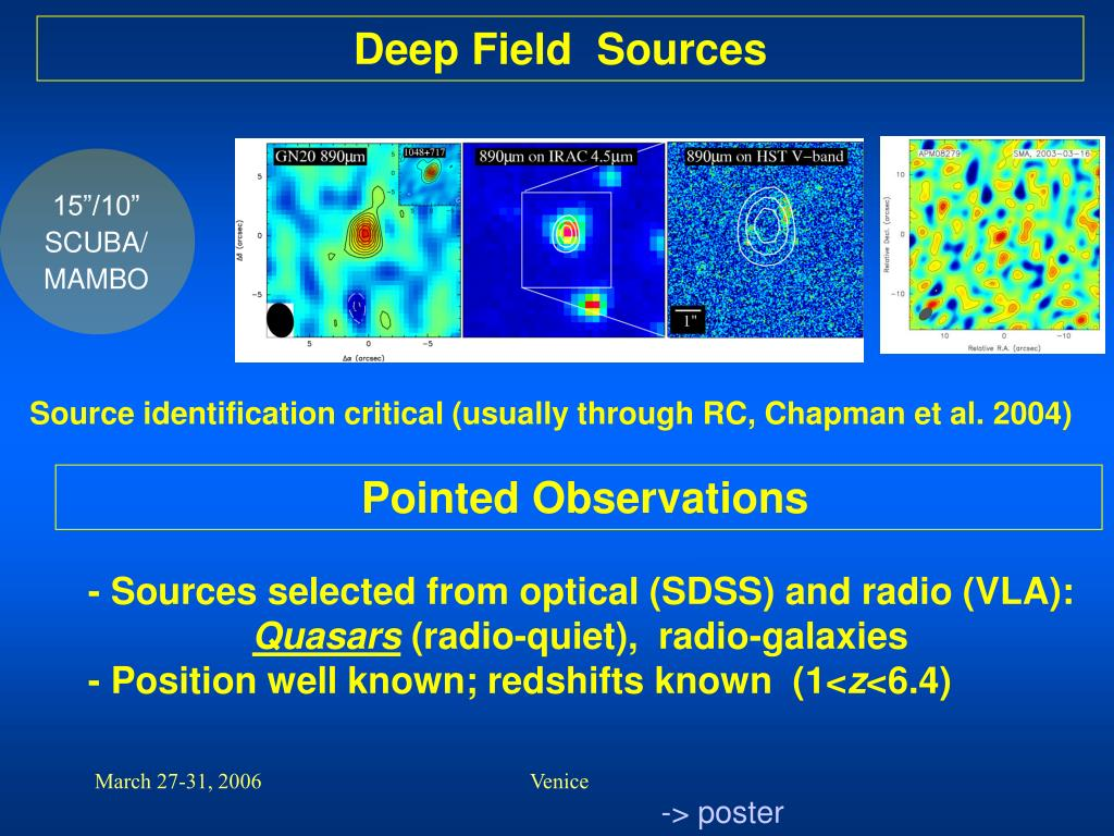 Deep Field  Sources