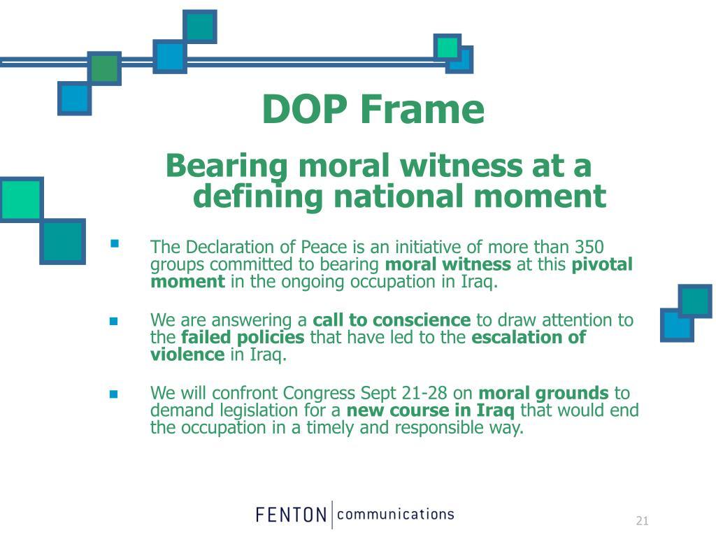 DOP Frame
