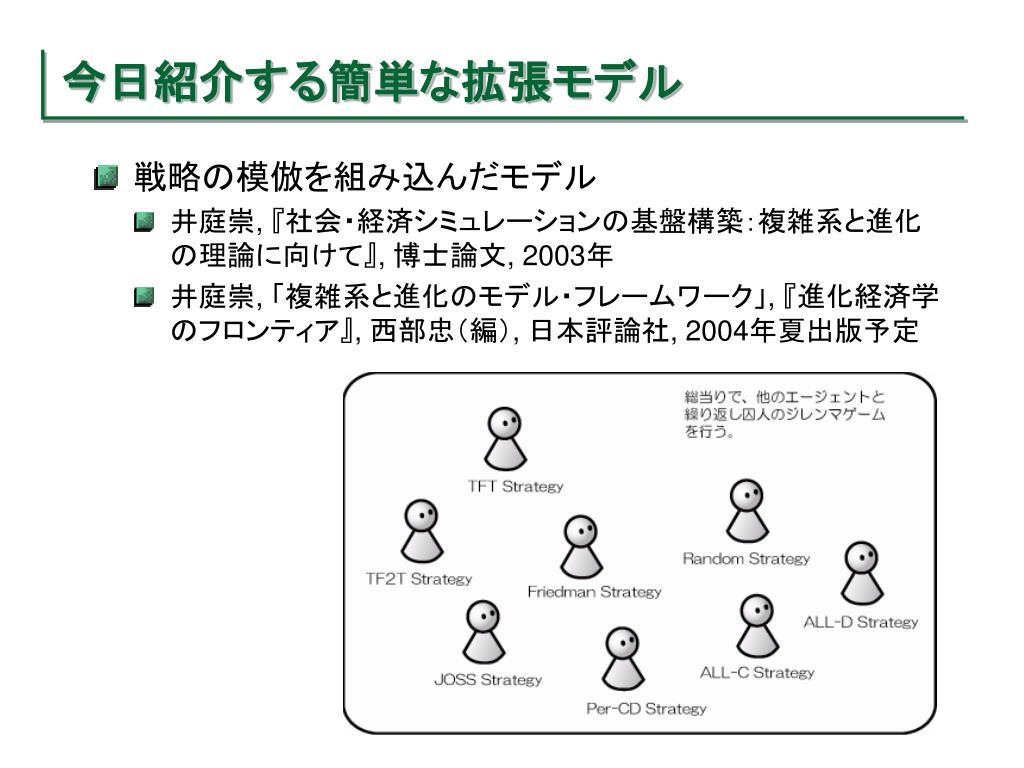 今日紹介する簡単な拡張モデル