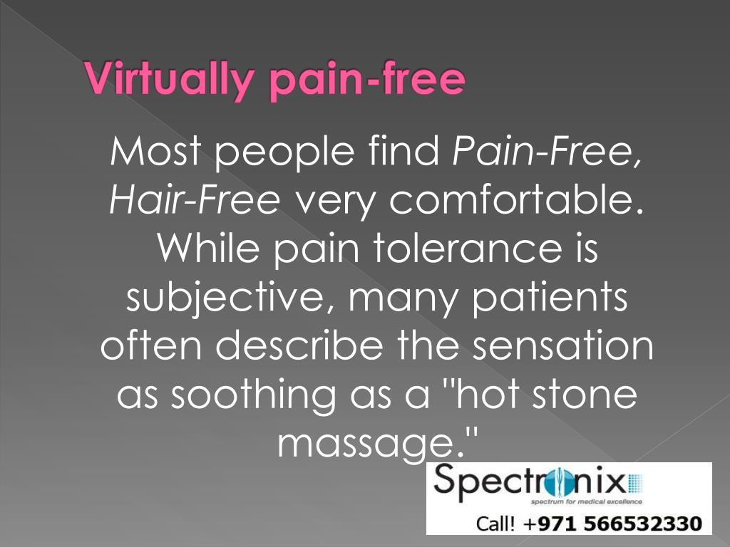 Virtually pain-free