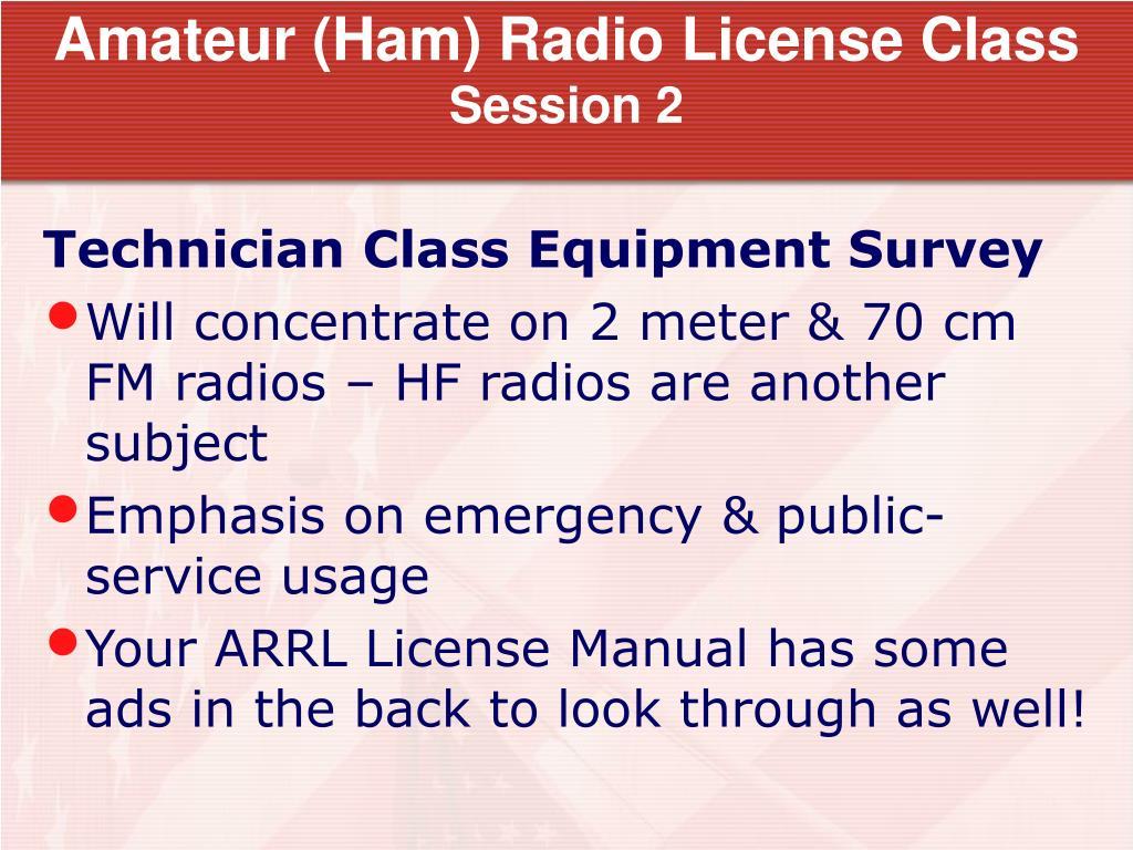 Amateur (Ham) Radio License Class