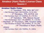 amateur ham radio license class session 214
