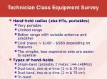 technician class equipment survey6