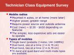 technician class equipment survey9