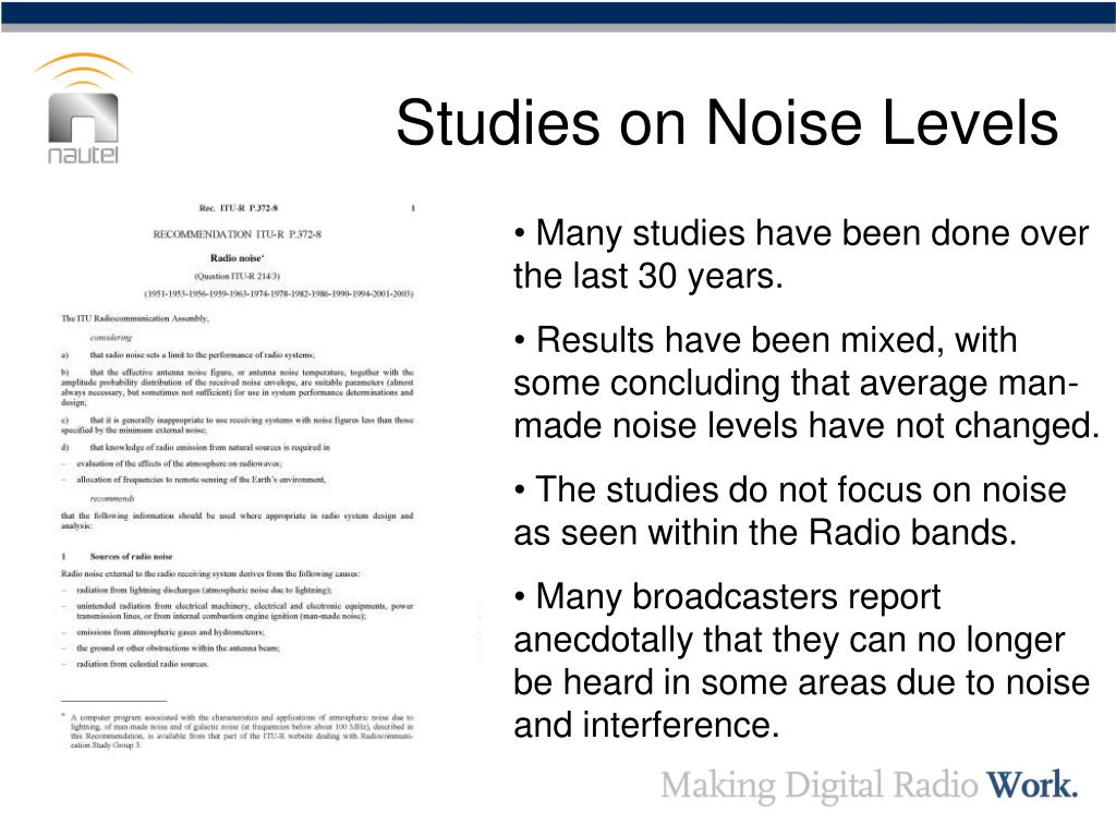 Studies on Noise Levels
