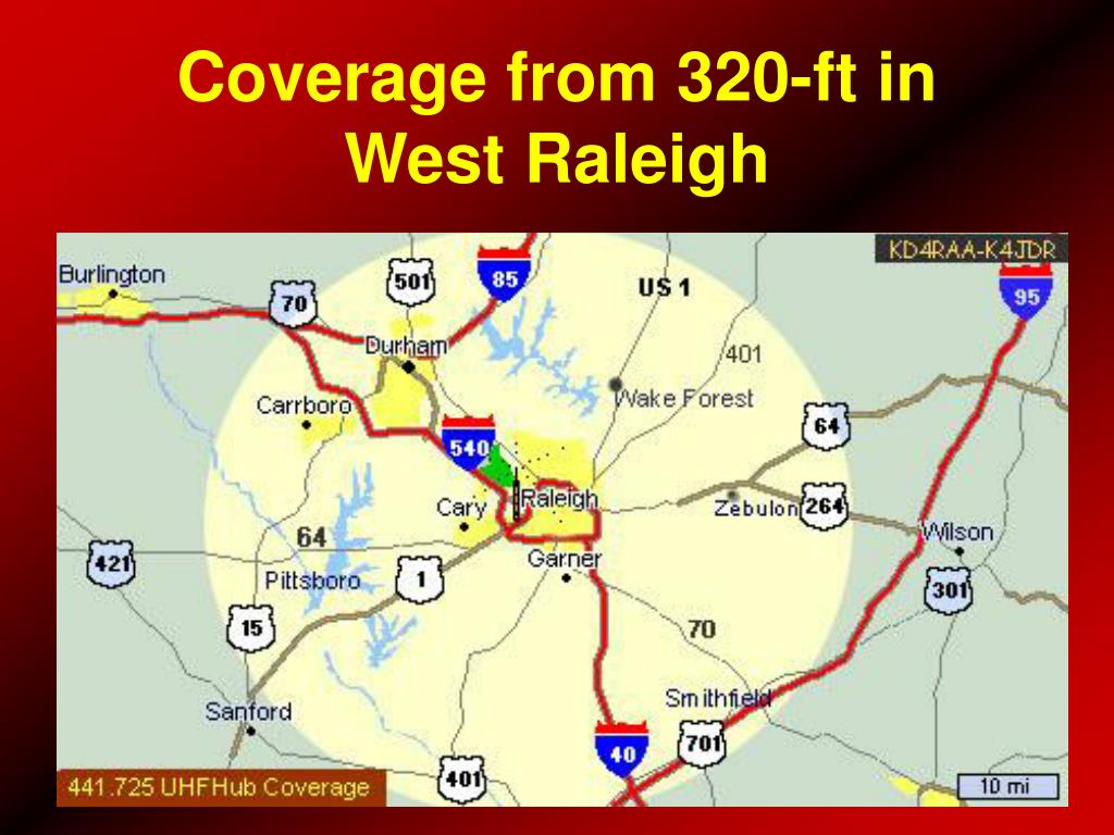 Coverage from 320-ft in West Raleigh