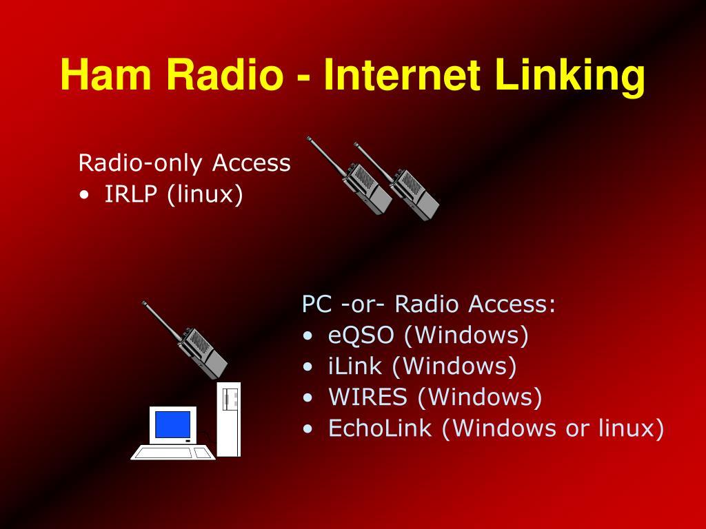 Ham Radio - Internet Linking