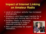 impact of internet linking on amateur radio