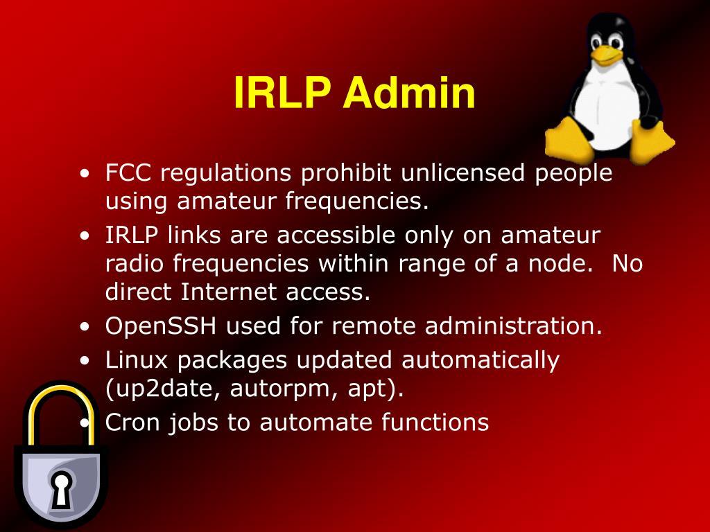 IRLP Admin