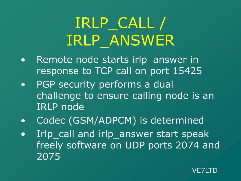 IRLP_CALL / IRLP_ANSWER