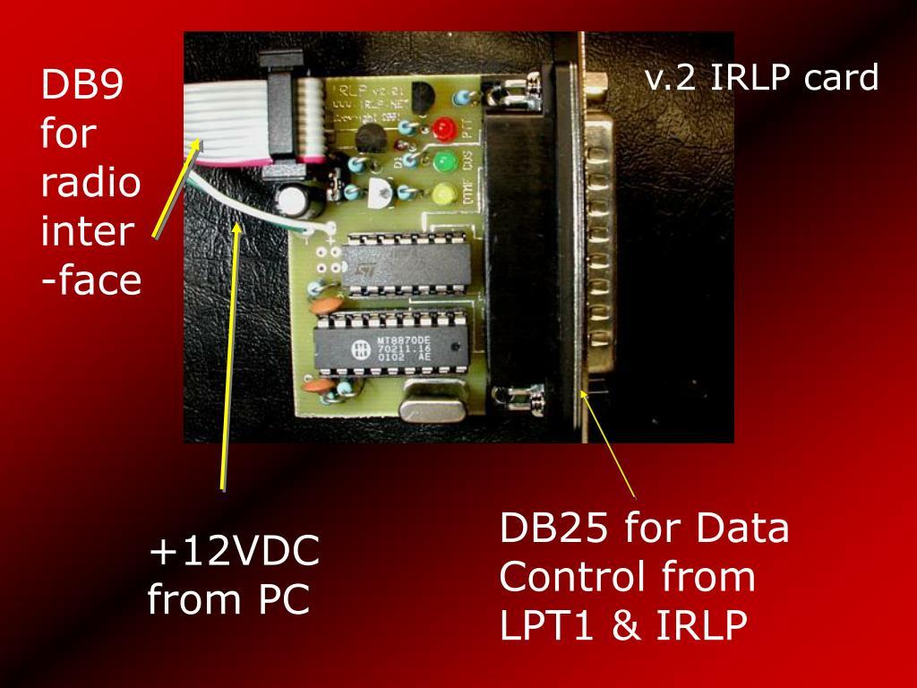 DB9 for radio inter-face