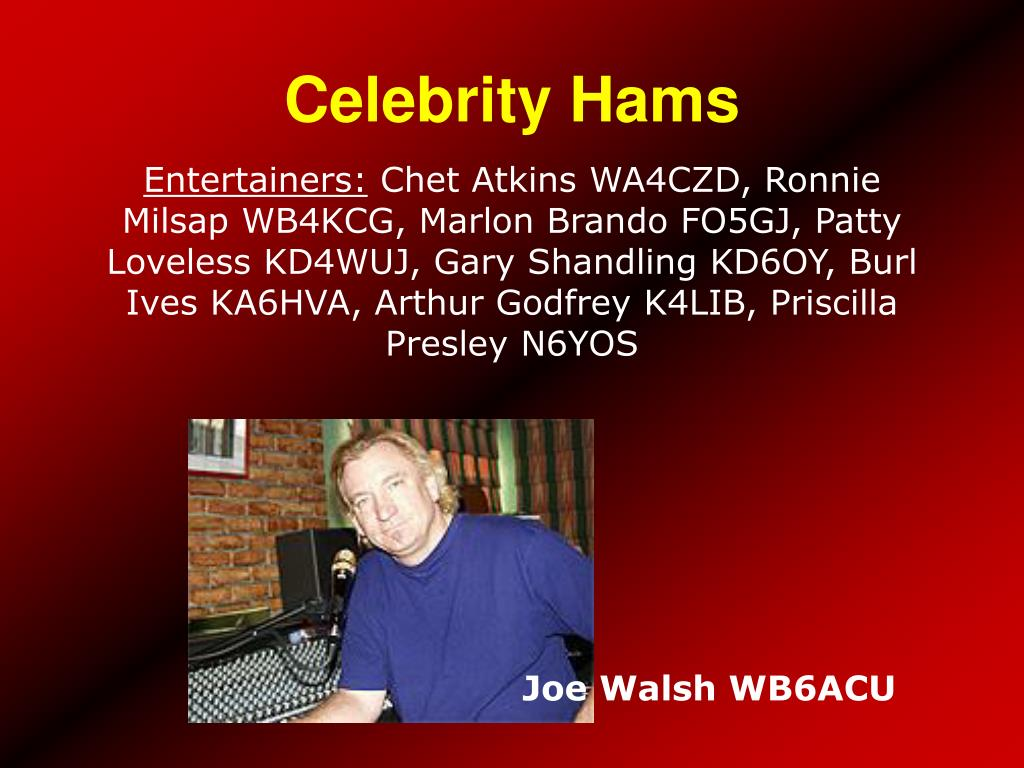 Celebrity Hams