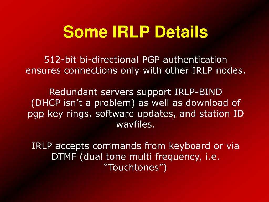 Some IRLP Details