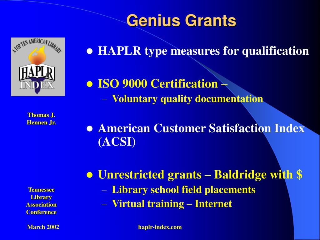 Genius Grants