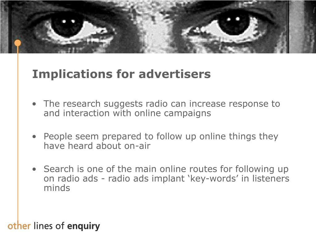 Implications for advertisers