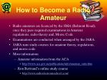 how to become a radio amateur