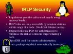irlp security