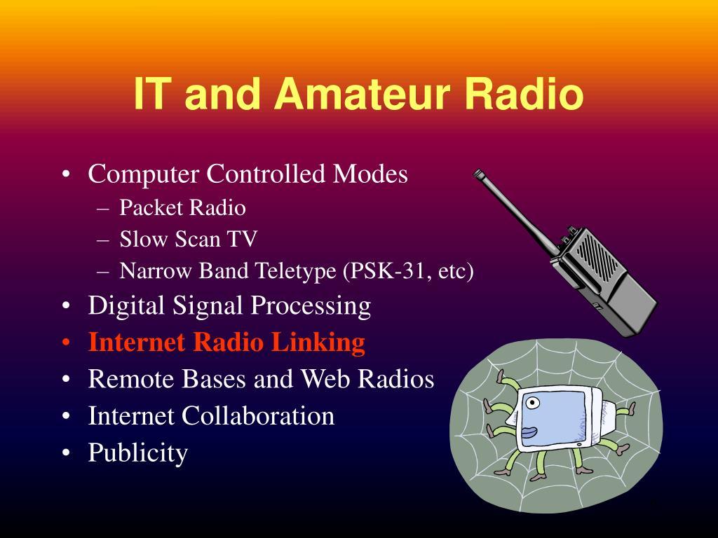 IT and Amateur Radio