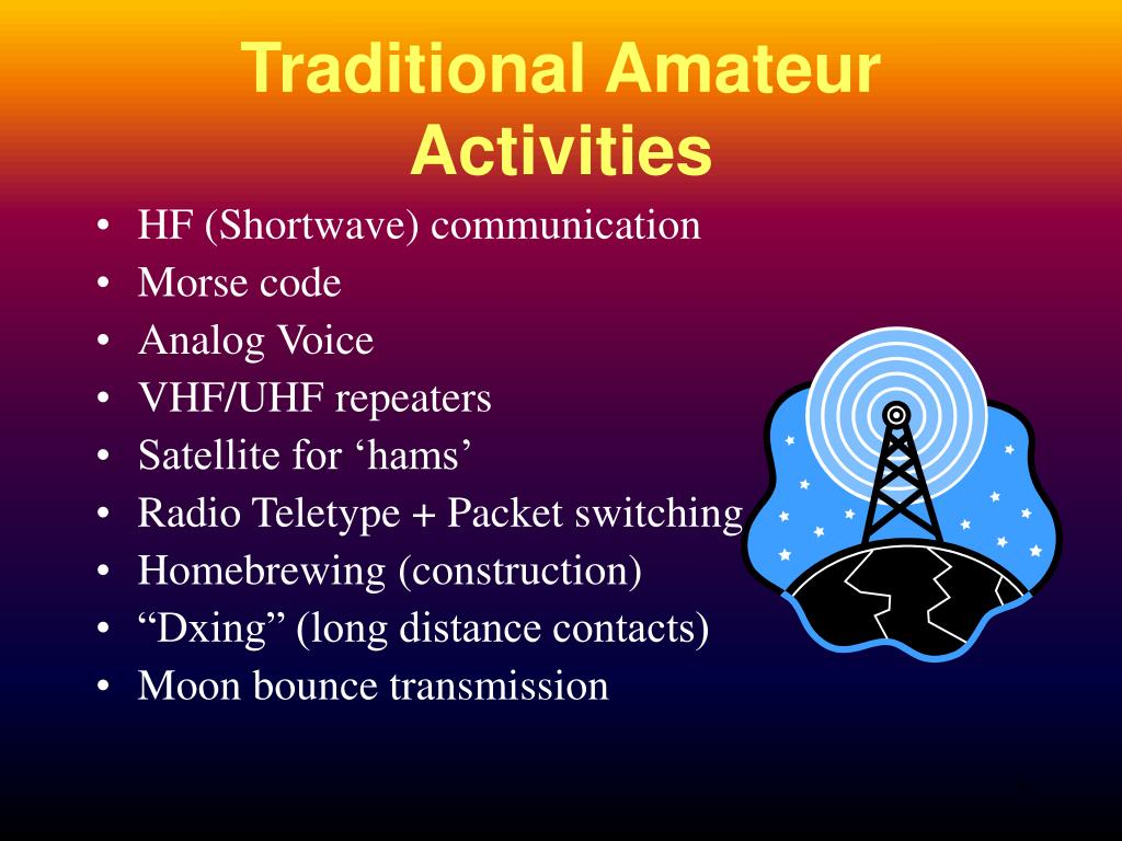 Traditional Amateur Activities