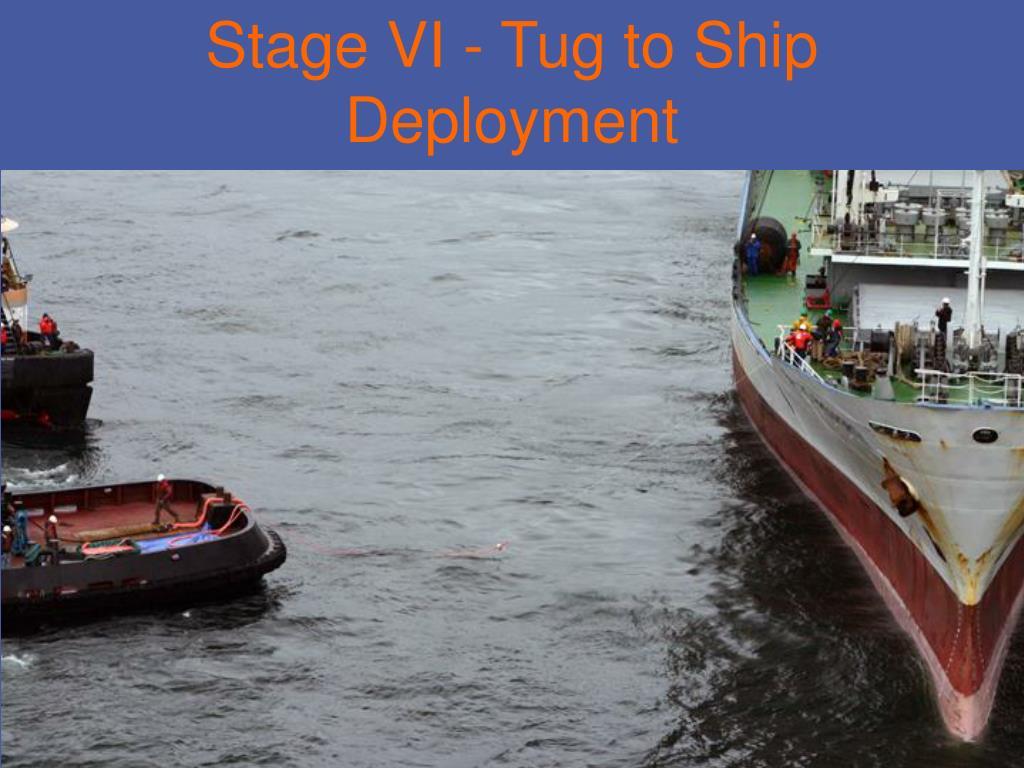 Stage VI - Tug to Ship