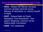 early government regulation 1903 19465