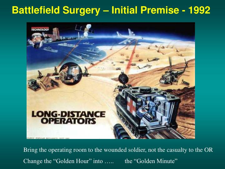 Battlefield Surgery – Initial Premise - 1992