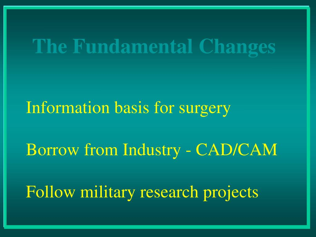 Information basis for surgery