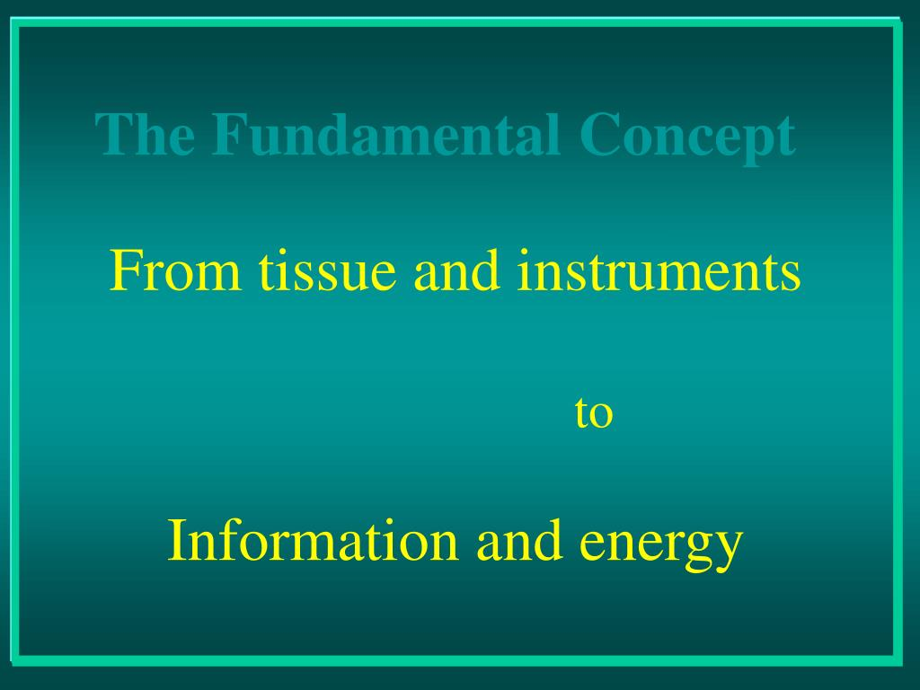 From tissue and instruments