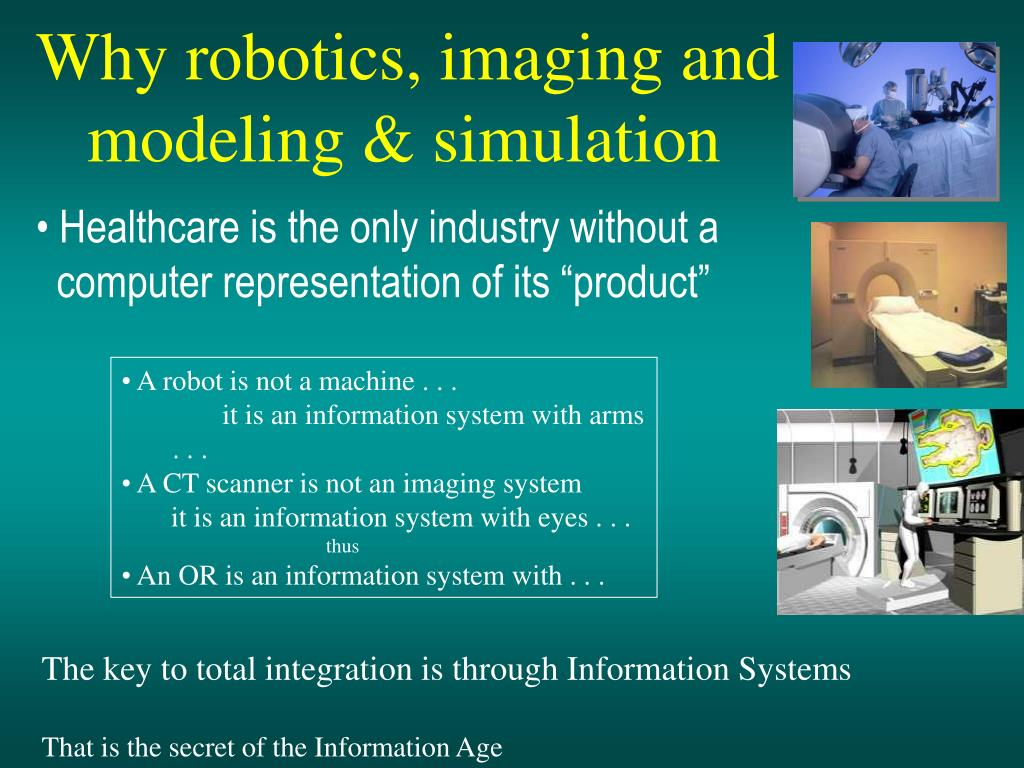 Why robotics, imaging and