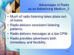 advantages of radio as an advertising medium 2