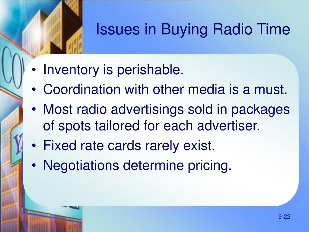 Issues in Buying Radio Time