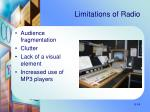limitations of radio