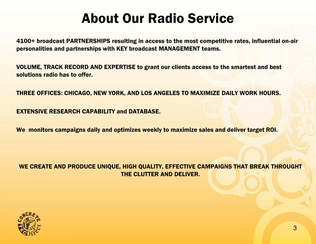 About Our Radio Service
