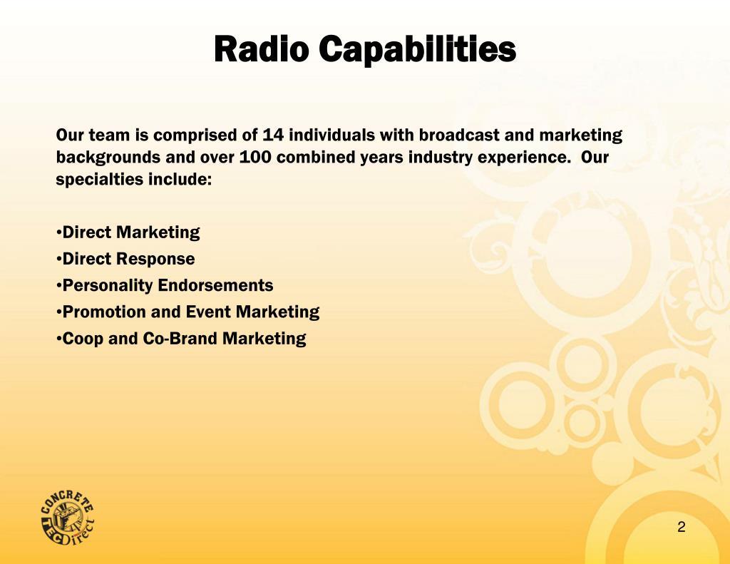 Radio Capabilities