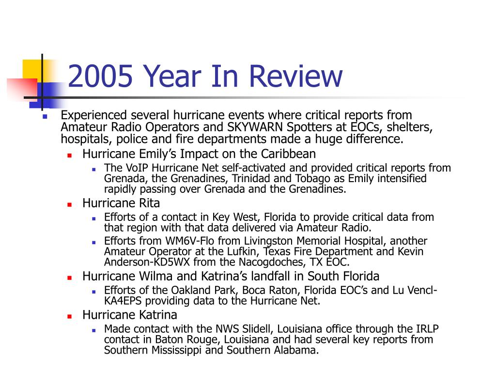 2005 Year In Review