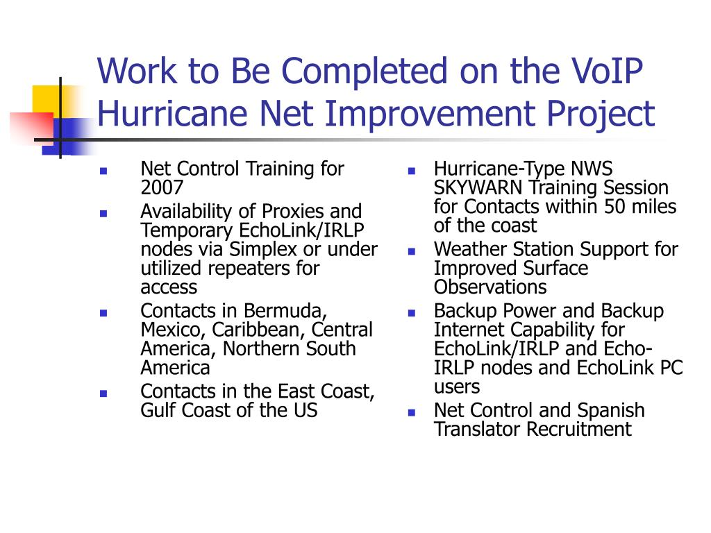 Net Control Training for 2007