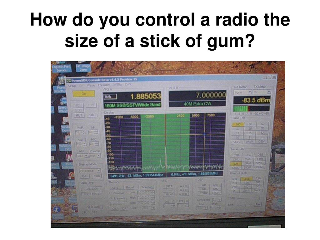 How do you control a radio the size of a stick of gum?