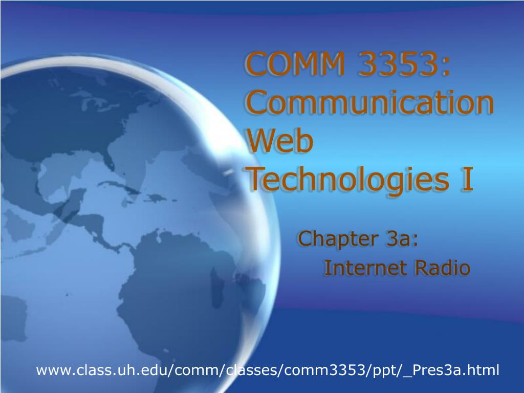 comm 3353 communication web technologies i