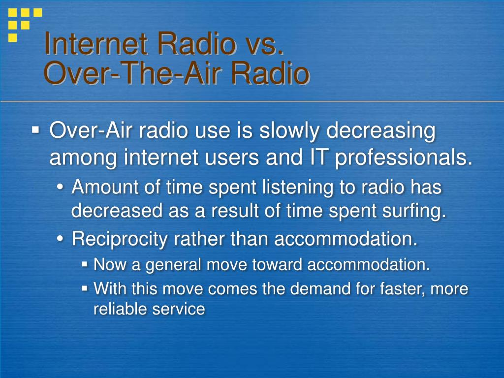 Internet Radio vs.
