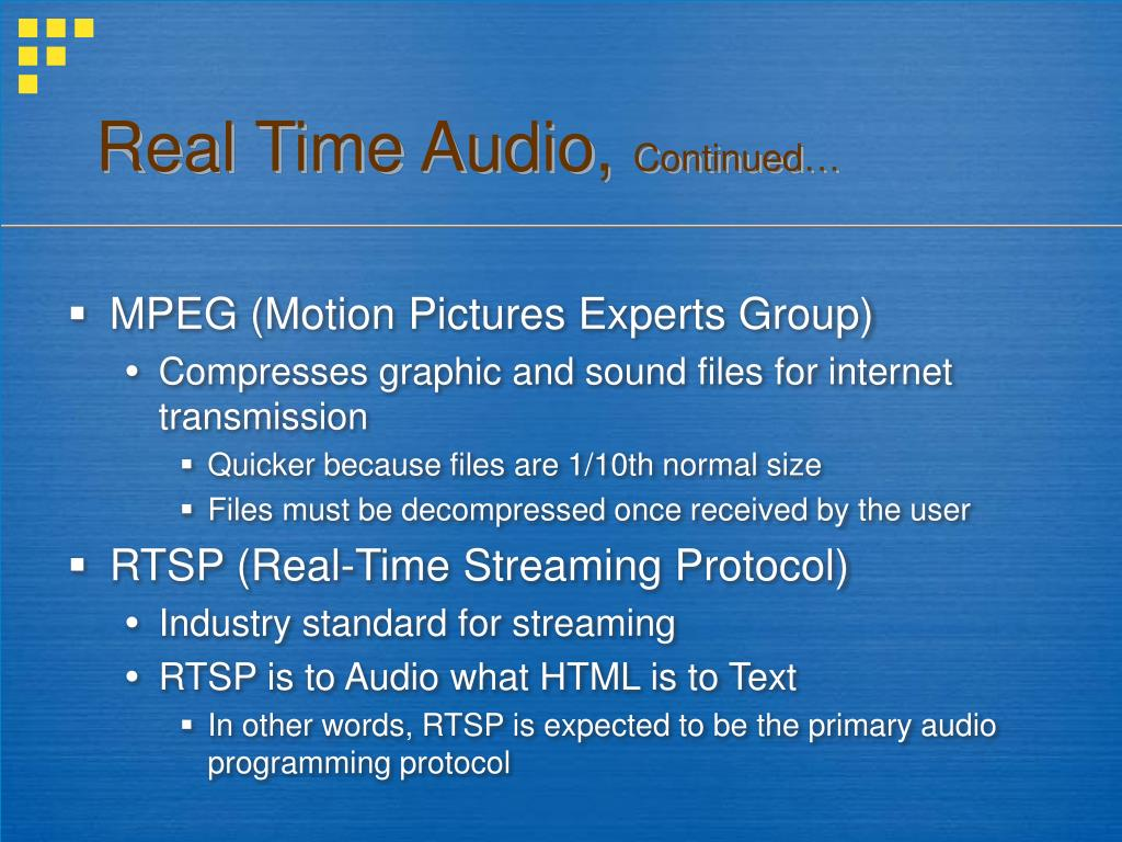 Real Time Audio,