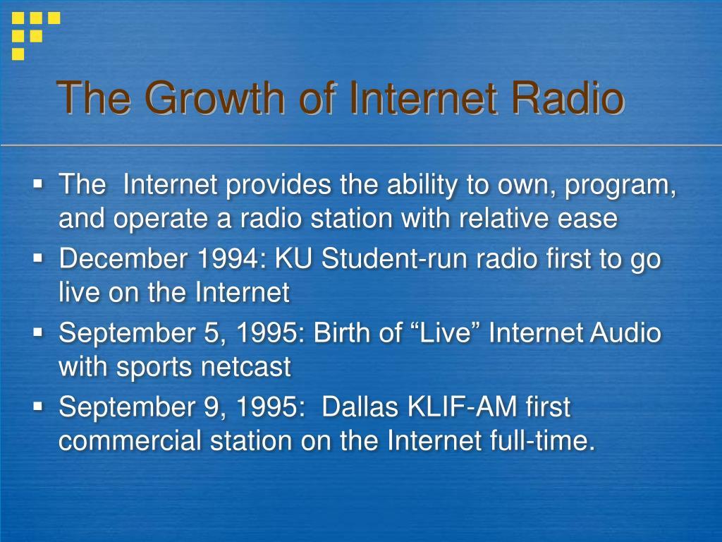 The Growth of Internet Radio
