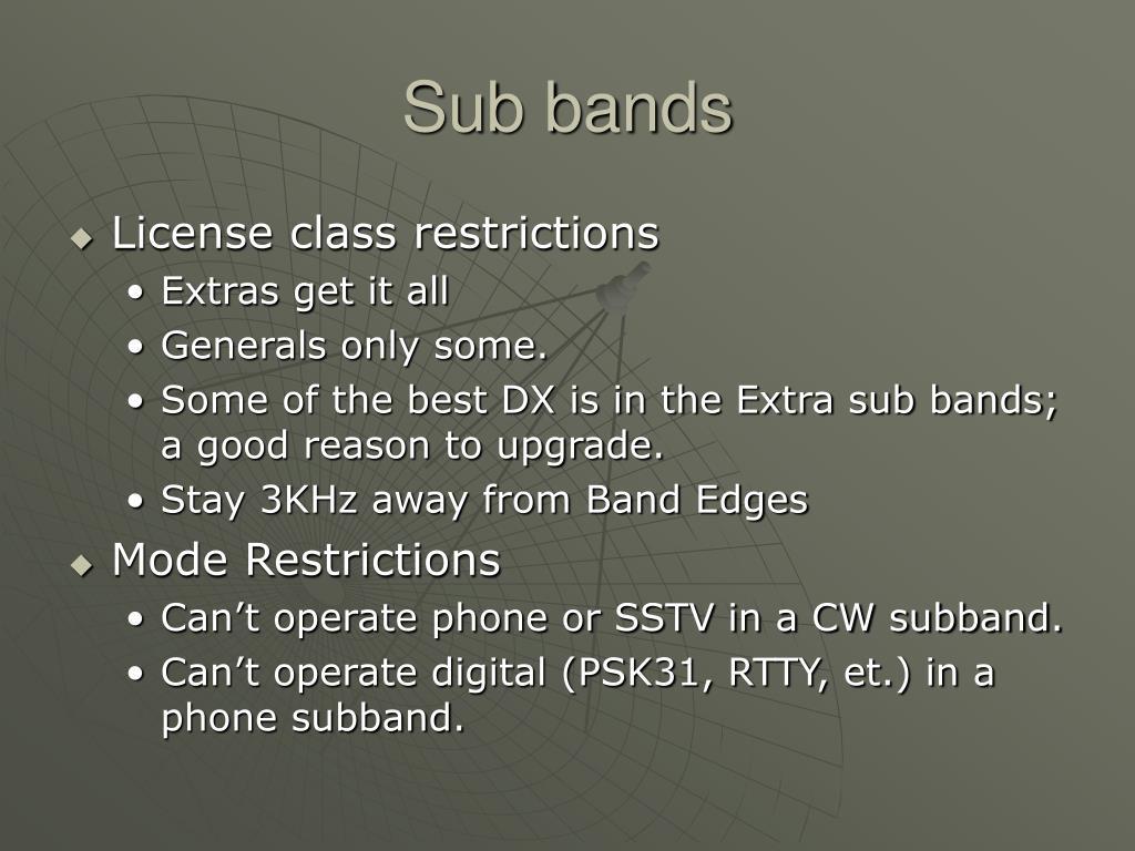 Sub bands